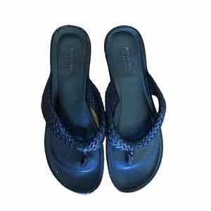Mossimo Supply Co. Black Woven Flip Flops Sz 9